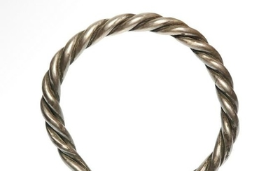 Solid Silver Viking Bracelet, c. 8th-10th Century A.D.