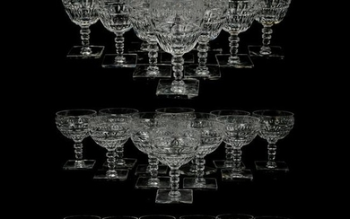 (43 Pc) Hawkes Crystal Dinner Glasses