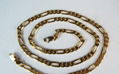 9ct Yellow Gold 18 inch Figaro link Chain with lobster claw ...