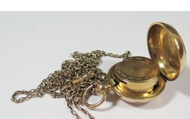 A 9ct Gold Filled Sovereign Case with chased foliate scroll ...