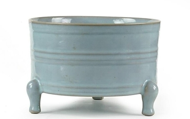 A Chinese Celadon Glazed Porcelain Censer.