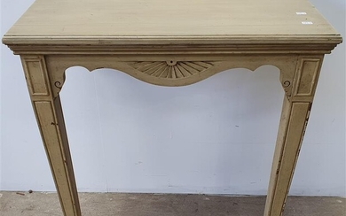 A FRENCH STYLE TIMBER CONSOLE TABLE
