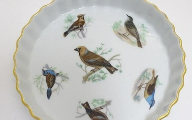 A French L Lourioux Le Faune pie dish with fluted sides