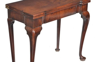 A George II mahogany card table
