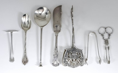 A George V Silver Seal Top Spoon, and mixed...