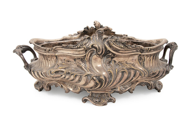 A Louis XV Style Silvered Bronze Centerpiece