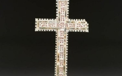 A MOTHER OF PEARL CRUCIFIX Jerusalem, 19th century