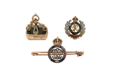 A Regimental brooch for The Royal Engineers, decorated...