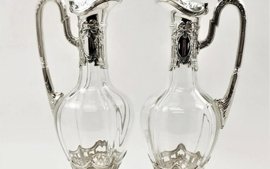 A VERY FINE PAIR OF LATE 19TH CENTURY GERMAN ANTIQUE SILVER ...