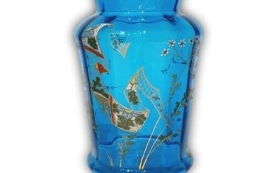A late 19th Century continental glass vase, possibly Harrach...