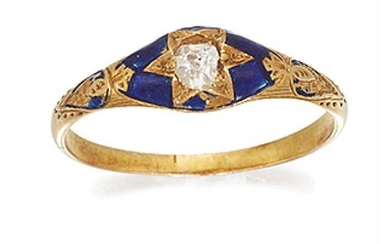 A late Victorian gold, diamond and enamel...