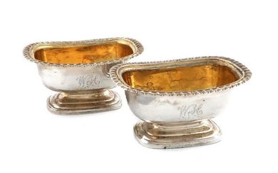 A pair of George IV provincial silver salt...