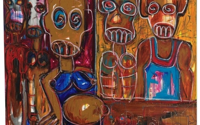 ABOUDIA (B. 1983), Famille Seule (Family Only)