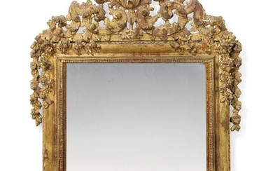 AN ITALIAN GILTWOOD PICTURE FRAME MIRROR, 18TH CENTURY, ALTERED IN SIZE