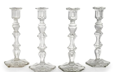ATTRIBUTED TO BACCARAT, A SET OF FOUR EXCEPTIONALLY ATTRACTI...