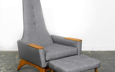 Adrian Pearsall Style Lounge Chair and Ottoman