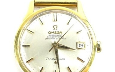 An Omega automatic chronometer Constellation gentleman's wristwatch, with 9ct...