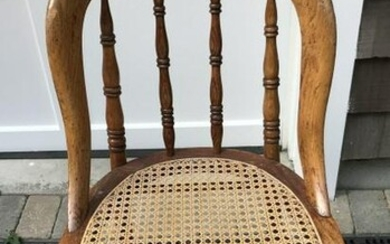 Antique 19th C American Caned Side Chair