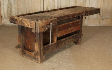 Antique Carpenter's Woodworking Bench