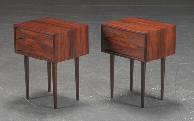N.C. Møbler. A pair of bedside tables/dressers in rosewood (2)