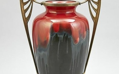 Art Nouveau vase with bro