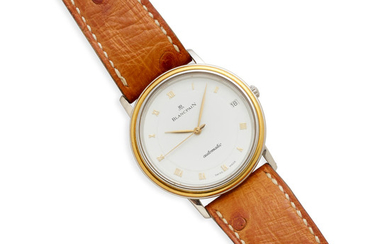 Blancpain. An 18k Gold and Stainless automatic calendar wristwatch,