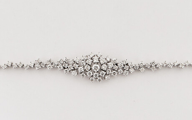 Bracelet 18k white gold with diamonds tot about 1. Armband 18k vitguld med diamanter tot ca 1,62 ct