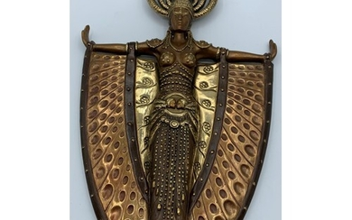 Bronze Ornate Hand Mirror by 'ERTE', one of the first 25 mad...