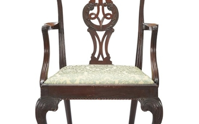 Chippendale carved mahogany armchair possibly New York, NY, 18th...