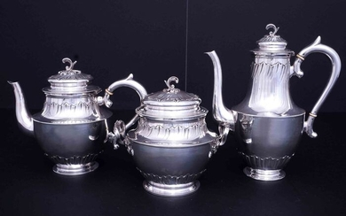 Coffee and tea service (3) - .950 silver - Antony Salomon - France - Early 20th century
