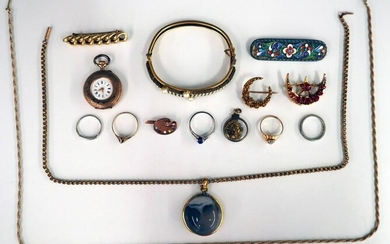 Collection of Gold Filled & Silver Jewelry