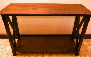 Contemporary Style Wood Console Table