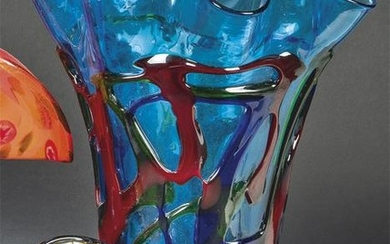 Curly mouth vase in Murano glass circa.