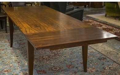 DINING TABLE, rosewood with rectangular top and leaf extensi...