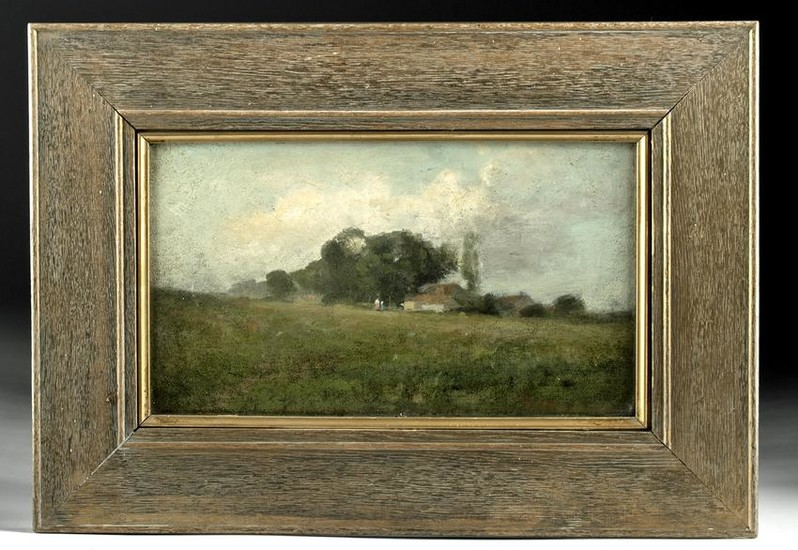 Framed 1884 American Oil Painting - R. Way Smith