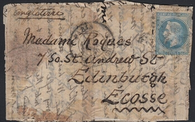 "France 1870 - ""L'Armand Barbès"" balloon mail bound for Edinburgh, Scotland."
