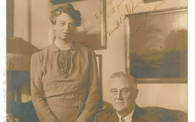 Franklin and Eleanor Roosevelt Signed Photograph