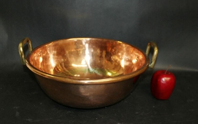 French polished copper candy vat