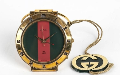 GUCCI TRAVEL WATCH 90s A Gucci 0300 travel watch, quartz...
