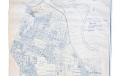 Large-scale cadastral map of Sacramento 1918