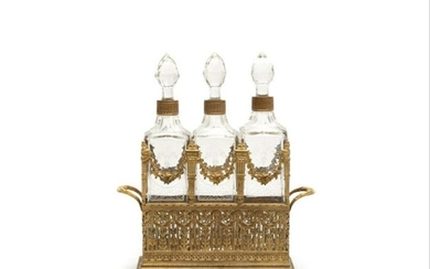 Late 19Th Century French Gilt Bronze Decanter
