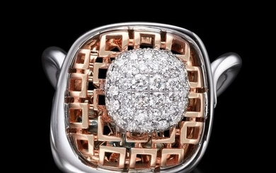 Lilo Diamonds - 14 kt. Pink gold, White gold - Ring - 0.80 ct Diamond - Diamonds, 0.80 carat diamonds D VS