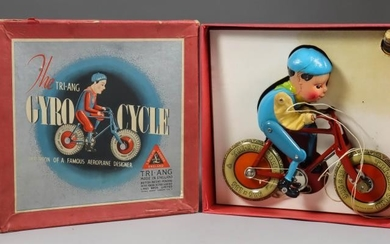 """Lines Brothers Tri-Ang Tinplate Toy - """"Gyro Cycle"""", in..."""