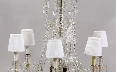 *MARIE THERESE STYLE, SIX-LIGHT CRYSTAL CHANDELIER