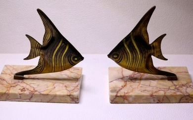 Midcentury Fish Bookends