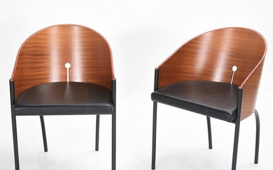 Modernist Style Pair of Bucket Chairs.