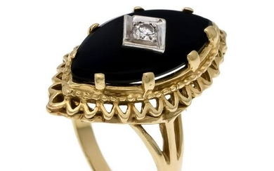 Onyx-Brillant-Ring GG 585