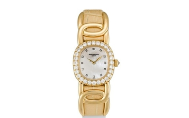 PATEK PHILIPPE | GOLDEN ELLIPSE, REFERENCE 4931 A YELLOW GOLD AND DIAMOND-SET WRISTWATCH WITH MOTHER-OF-PEARL DIAL, MADE IN 2000