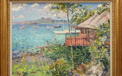 PIERRE BITTAR OIL ON CANVAS, MARTINIQUE, FRANCE