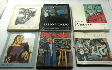 Pablo Picasso (1881-1973), Collection of 7 Books about the Artist's Works